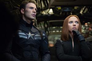 Evans i Johansson com a Capità Amèrica i la Viuda Negra