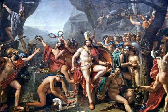 Leònides a les Termòpiles de Jacques-Louis David