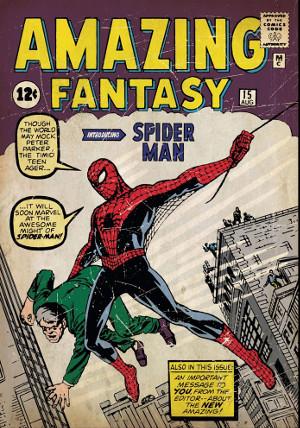 Primera aparició d'Spider-man, a Amazing Fantasy
