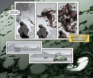imatge del còmic Godzilla Despertar