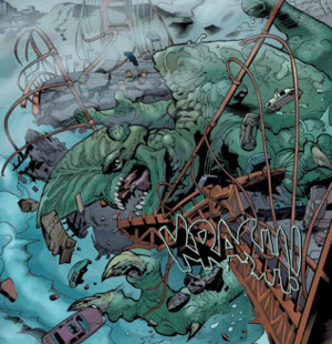 aparició primer Kaiju al còmic Pacific Rim Año Cero Pantalla.cat