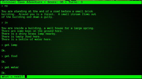 pantalla d''Adventure' adaptada per l'aMC